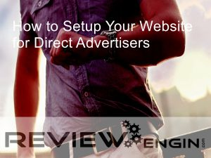 How to Setup Your Website for Direct Advertisers