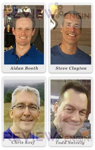 Aidan Booth, Todd Snively, Steve Clayton and Chris Keef
