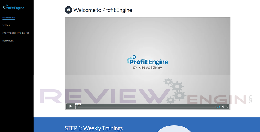 Profit Engine Members Area