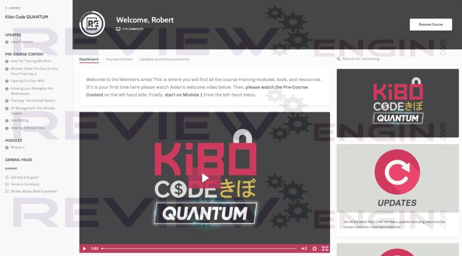 Kibo Code Quantum Members Area